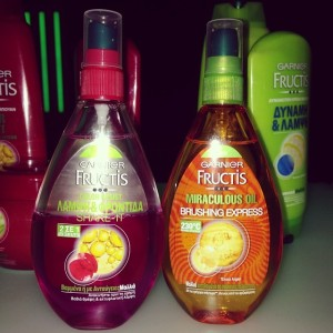 fructis hair spray and hair oil