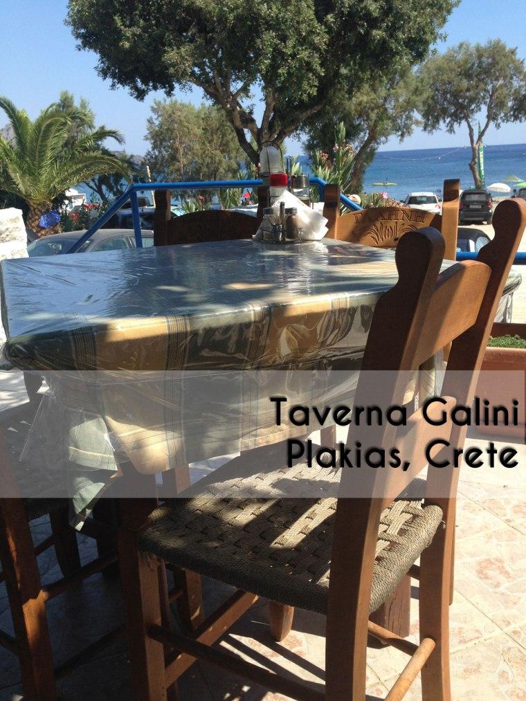 Galini Tavern, Souda, Plakias, Crete