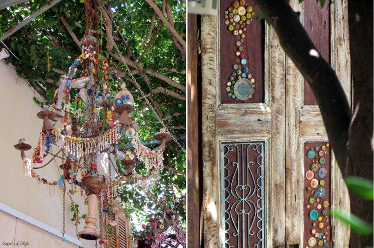 Avli restaurant Rethymno decorative details