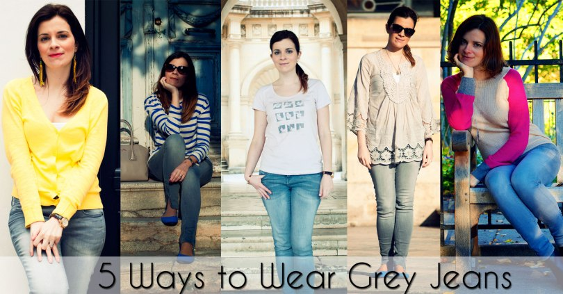 5 ways to wear grey jeans