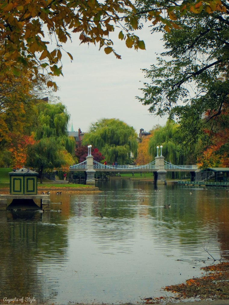 Boston Public Garden lake