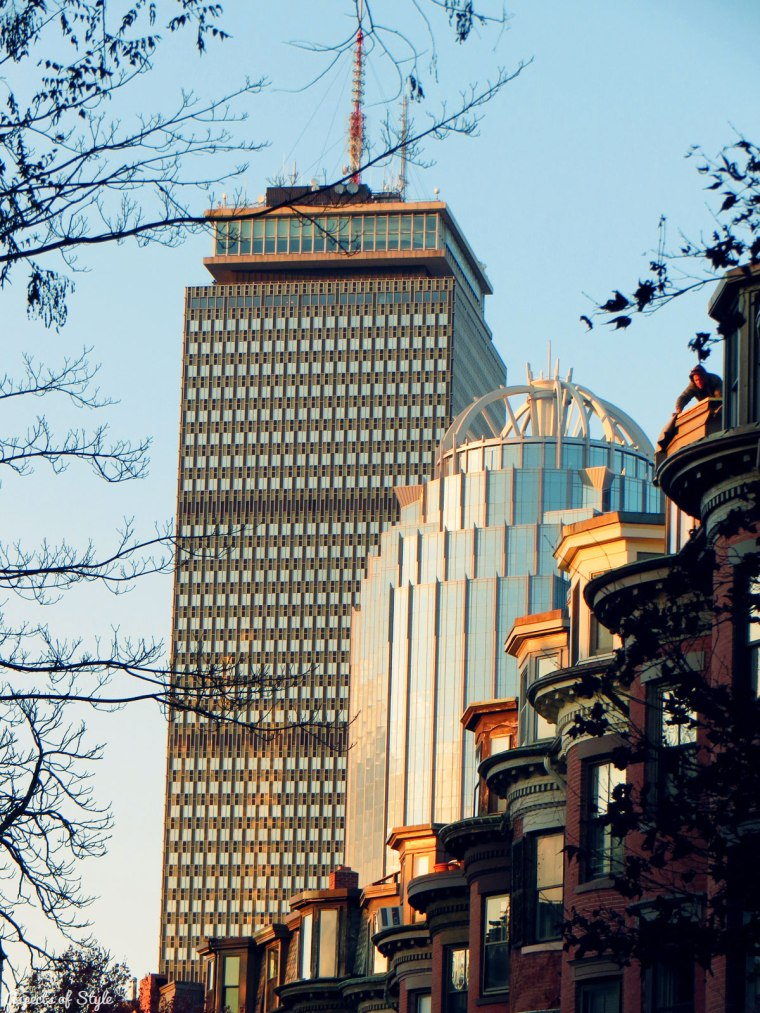 The Prudential Center as seen from Rutland Square