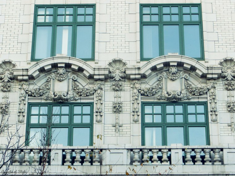 an ornate building off St. Catherine street, Montreal
