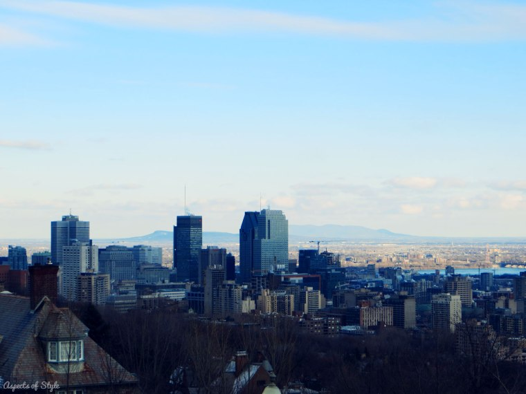 view of Montreal from Mont Royale
