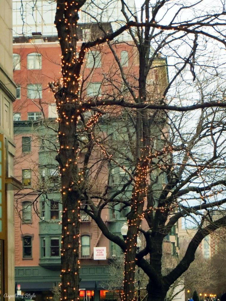 Christmas lights in Boylston street, Boston