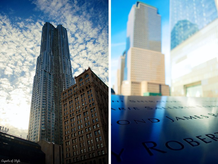 8 Spruce Street and 9/11 Memorial