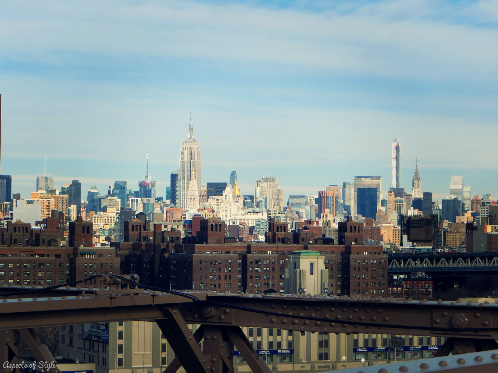 View from Brooklyn Bridge: the Empire State Building