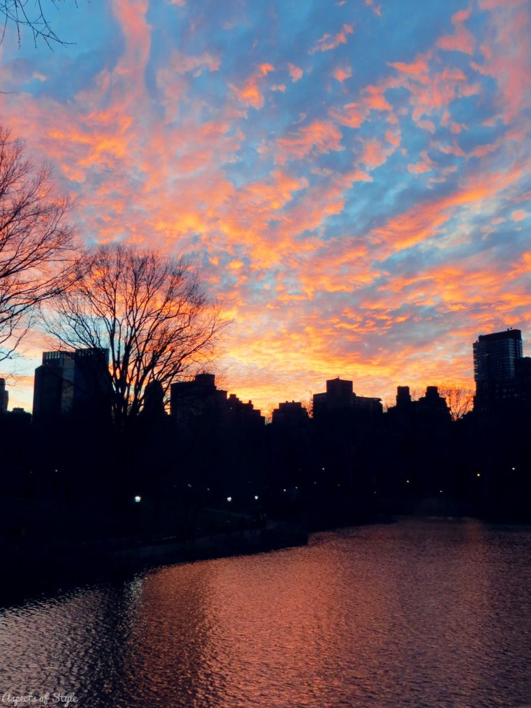 Sunset in Central Park