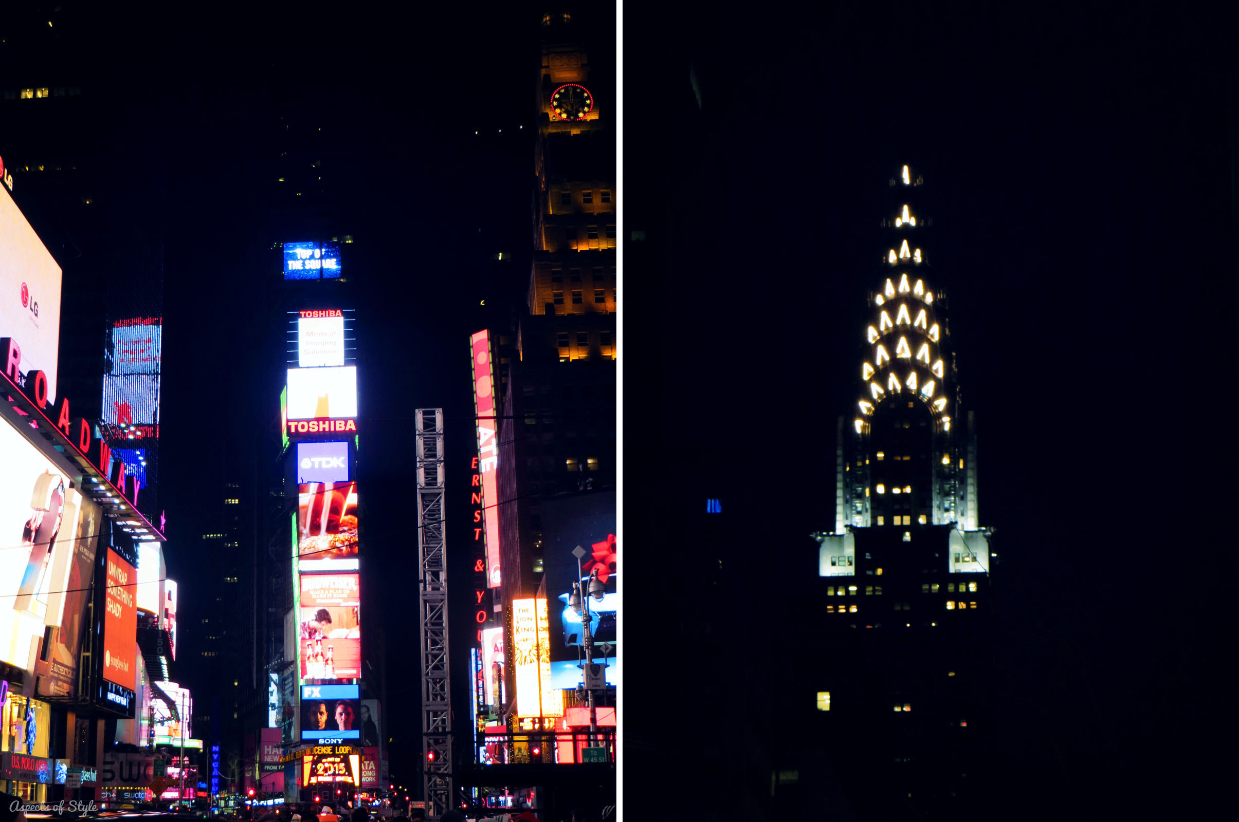 Times Square/ Chrysler Building NYC