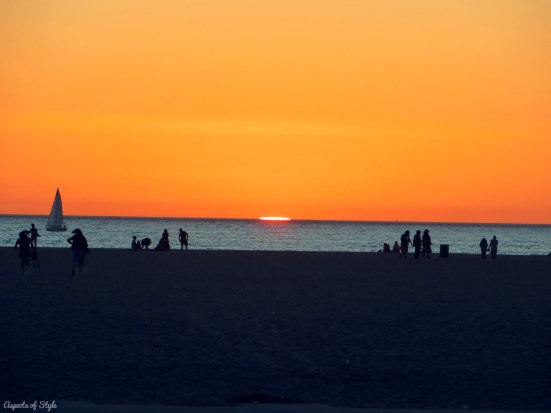 Sunset in Venice Beach